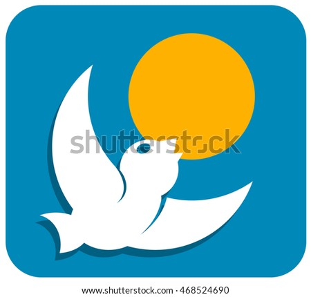 Stylized image of a bird suitable for logo. Vector illustration