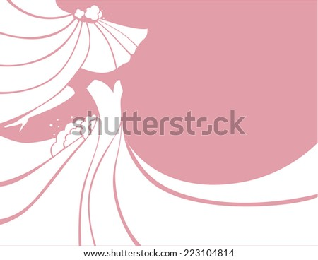 stylized image of a bride in a wedding dress - stock vector