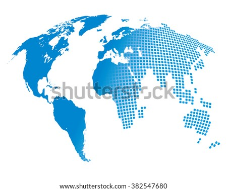 Stylized image of the world map. Vector illustration