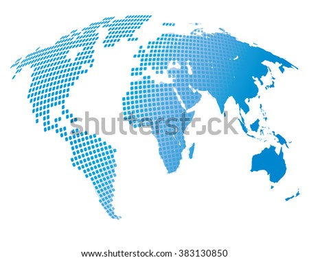 Stylized image of the world map. Vector illustration - stock vector