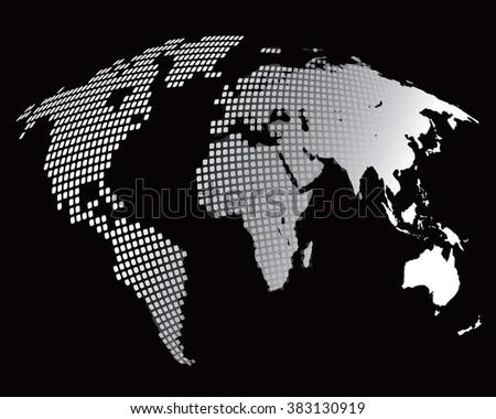 Stylized image world map vector illustration stock vector 383130919 stylized image of the world map vector illustration gumiabroncs Image collections