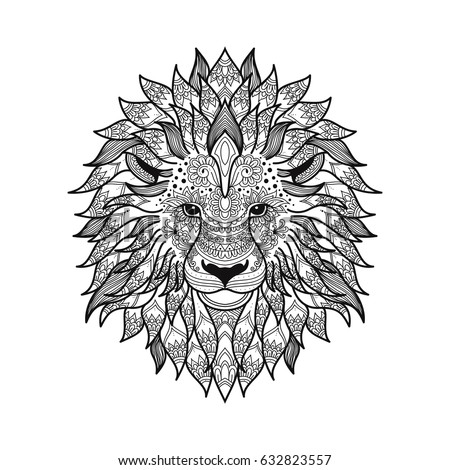 Tribal Lion Stock Images Royalty Free Images Vectors Shutterstock