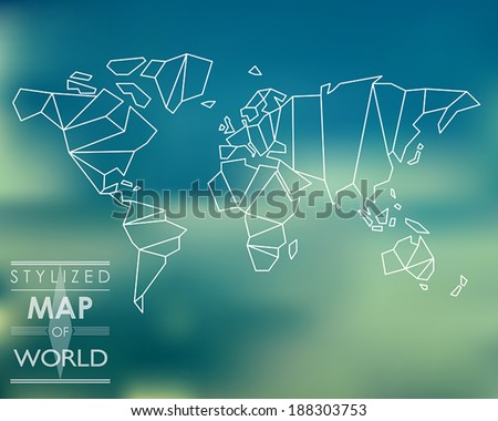 Stylized world map stock images royalty free images vectors stylized map of world world map concept sciox Image collections