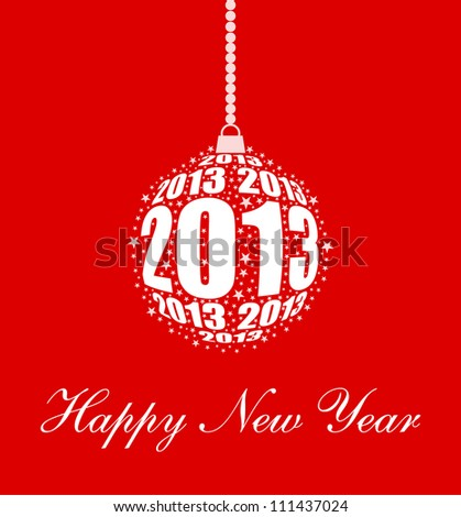 Stylized New Year 2013 Ornament Design (EPS10 Vector) - stock vector