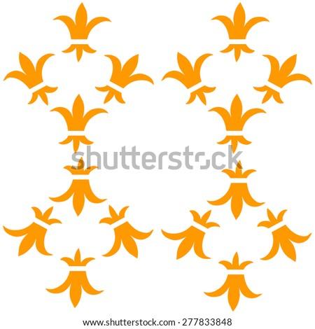 Stylized ornamental vector pattern crown vector pattern - stock vector