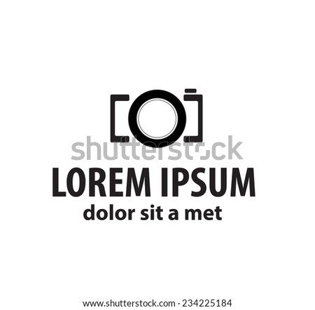 stylized photo camera on a white background. Company logo design.