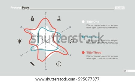 Stylized Radar Chart Slide Template