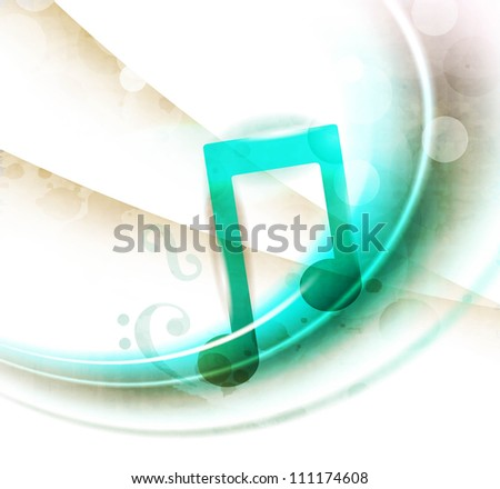 Stylized retro musical background with musical notes. EPS 10. - stock vector