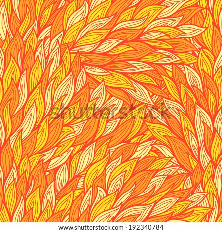 Stylized seamless fire background with abstract flames - stock vector