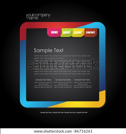 stylized simple web design template - stock vector