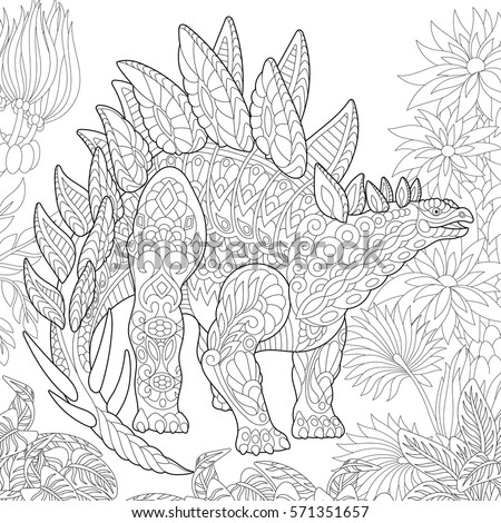 Coloring Books For Adults Dinosaurs : Zentangle stock images royalty free & vectors shutterstock