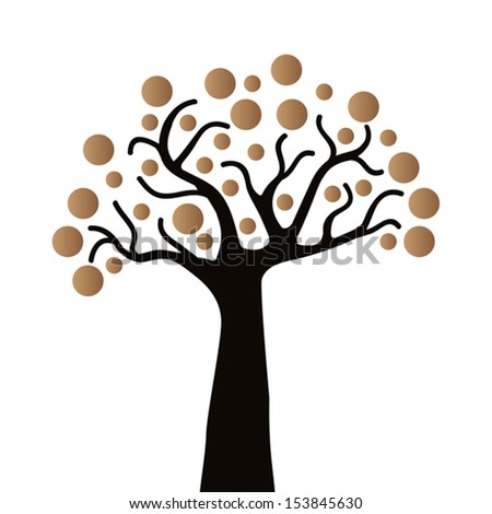 Stylized tree, Vector