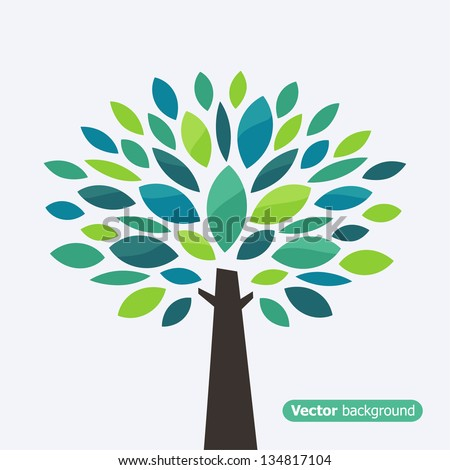 Stylized tree. Vector illustration - stock vector