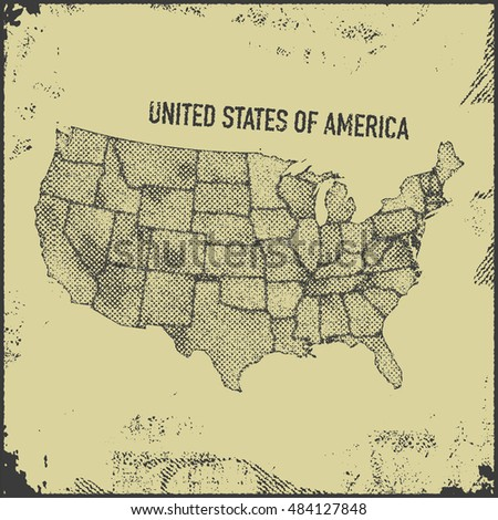 Stylized usa map. Vector illustration