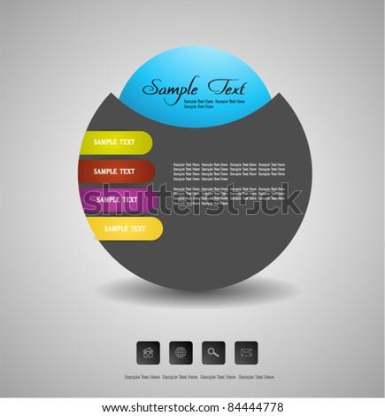 stylized web design template - stock vector