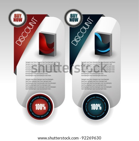 stylized web sale banners - stock vector