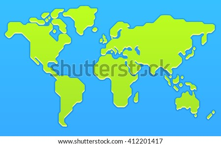 World Map Cartoon Stock Images RoyaltyFree Images Vectors - Flat globe map