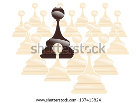 subject that distinguishes between the crown - stock vector
