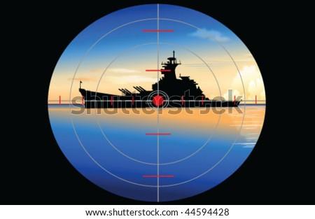 submarine periscope (vector) - stock vector