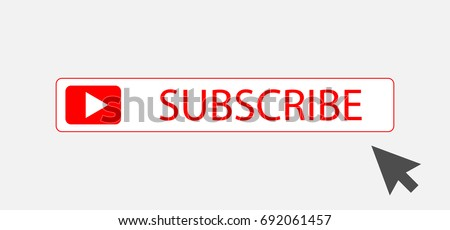 Subscribe button with arrow, subscribe icon symbol illustration design