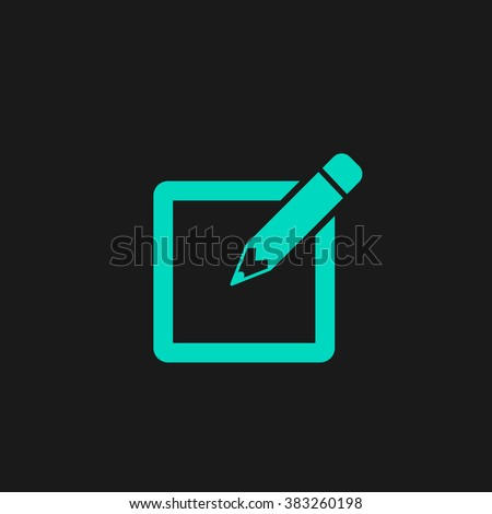 Subscribe. Flat simple modern illustration pictogram. Collection concept symbol for infographic project and logo - stock vector