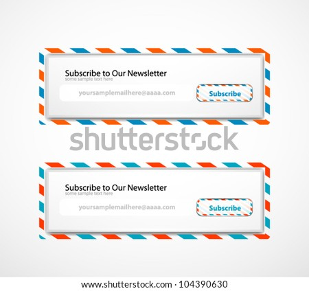 Subscribe Forms - stock vector