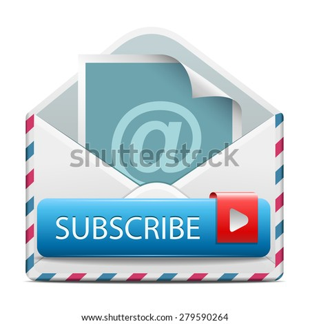 Subscribe icon - stock vector