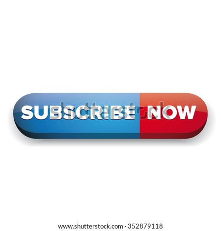 Subscribe now button red and blue vector - stock vector