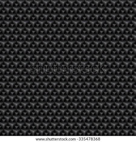 Subtle Black Polygon Seamless Pattern / Background - stock vector
