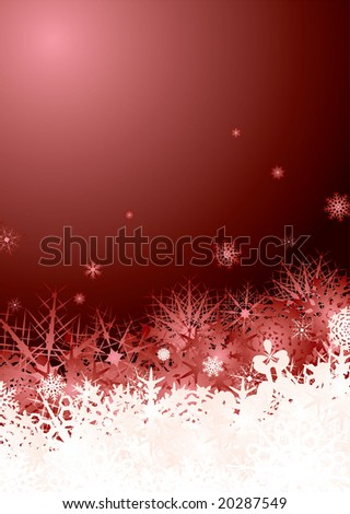 Subtle snow flake design ready for your christmas text - stock vector