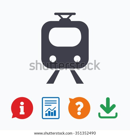 Subway Sign Icon Train Underground Symbol Stock Vector 351352490