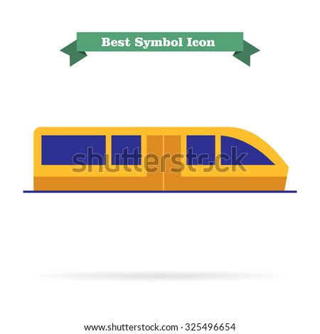 Subway train icon - stock vector