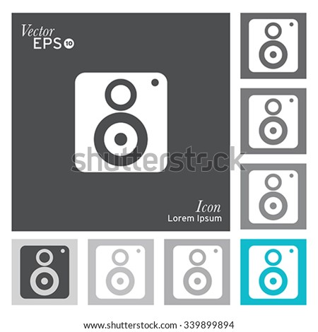 Subwoofer icon - vector, illustration. - stock vector