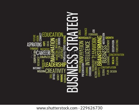 Success business strategy word cloud - stock vector