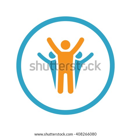 Success Icon. Business Concept. Flat Design with Long Shadow - stock vector