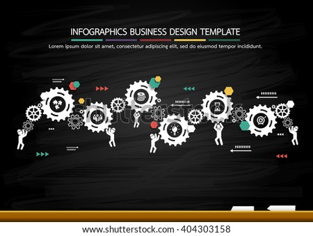 Success idea in gear as inspiration concept - stock vector