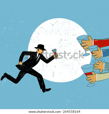 Success in business concept - stock vector