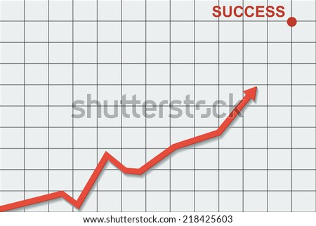 Success in business. EPS 10 vector illustration