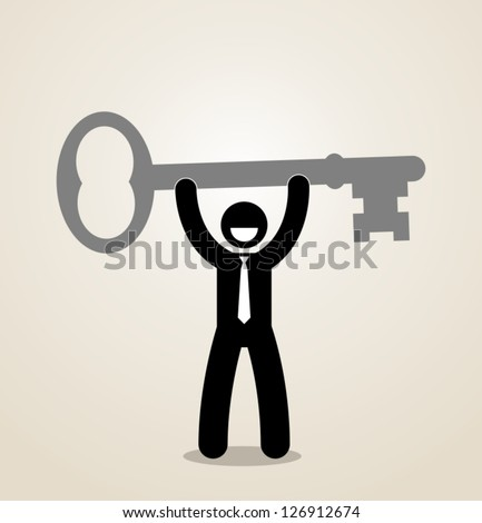 success key - stock vector