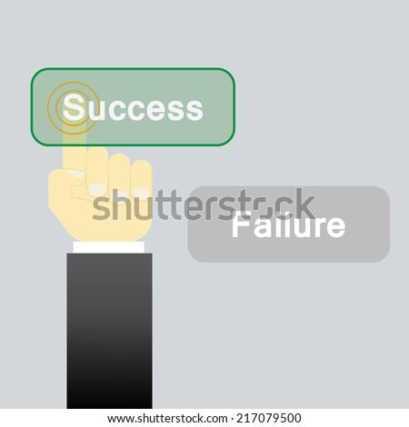 Success or fail choice  - stock vector