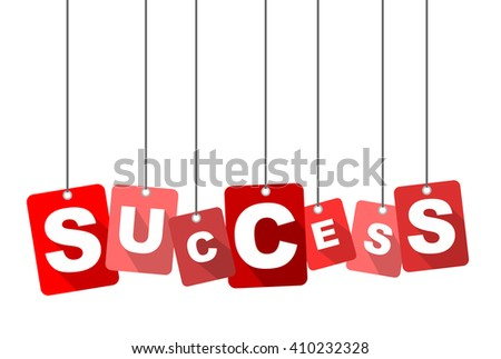 success, red vector success, red tag success, flat vector success, element success, sign success, design success, background success, illustration success, picture success, success eps10 - stock vector