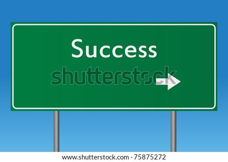 Success Sign - stock vector