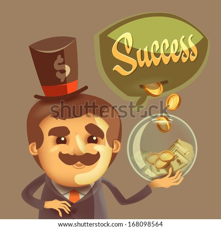 Success. Vector format - stock vector