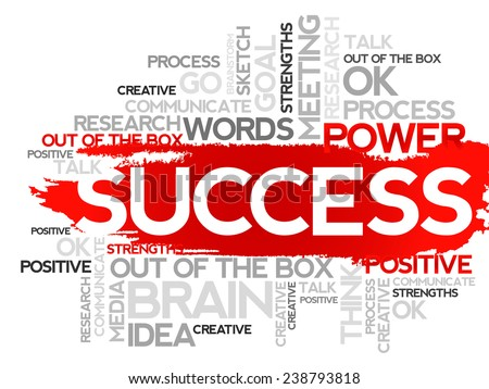 SUCCESS. Word business collage, vector background - stock vector