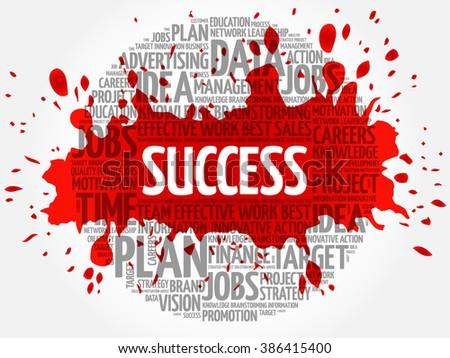 Success word cloud, business concept - stock vector