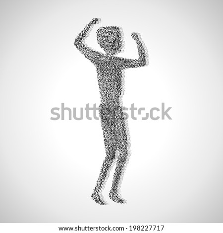 Successful Athlete - Isolated On Gray Background - Vector Illustration, Graphic Design Editable For Your Design
