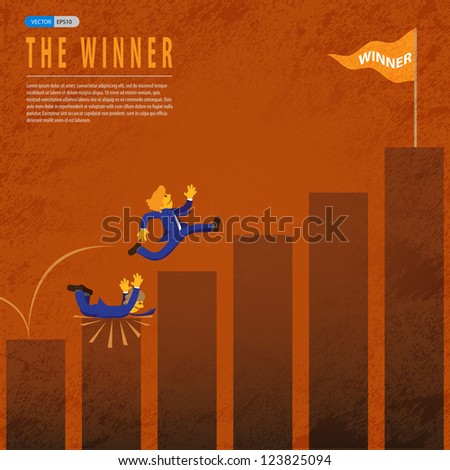 Successful business over the other company - stock vector