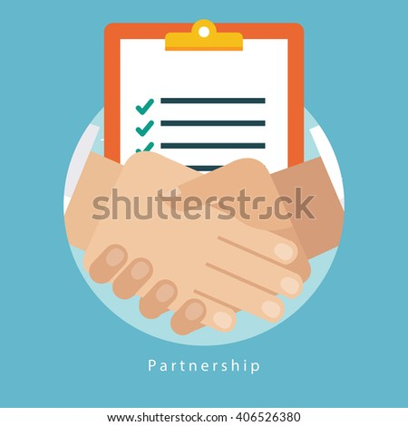Successful business partnership concept - stock vector