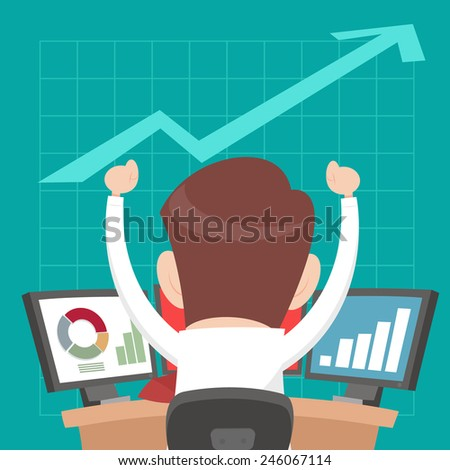 Successful business people from playing the stock - stock vector