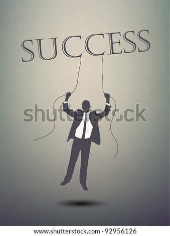 successful businessman - stock vector